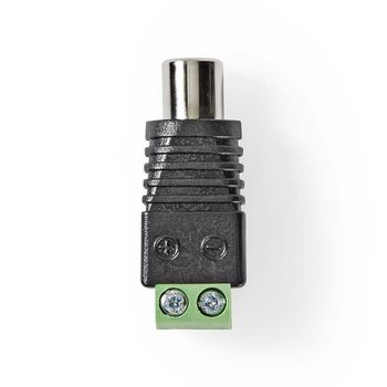 CCTV Security Connector | 5x | 2-Wire to RCA Female
