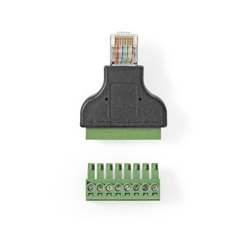 CCTV Security Connector | 8-Wire to RJ45 Male