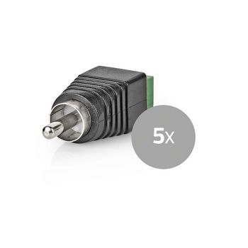 CCTV Security Connector   5x   2-Wire to RCA Male