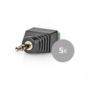 CCTV Security Connector | 5x | 3-Wire to 3.5 mm Male
