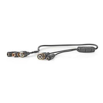 CCTV Security Camera Microphone | BNC + DC to BNC + DC + RCA