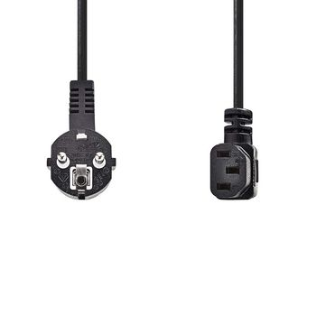 Power Cable   Schuko Male Angled - IEC-320-C13 Angled   2.0 m   Black