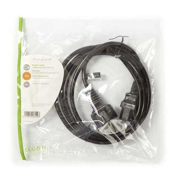Power Cable | Schuko Male - IEC-320-C13 | 2.0 m | Black