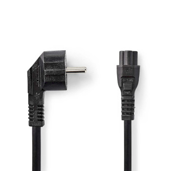 Power Cable | Schuko Male Angled - IEC-320-C5 | 2.0 m | Black