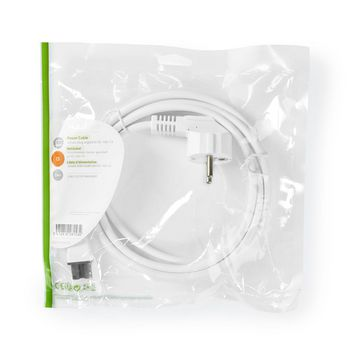 Cable de Alimentación | Schuko Macho - IEC-320-C13 | 2 m | Blanco