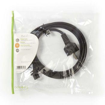 Power Cable | Schuko Male - IEC-320-C5 | 2.0 m | Black