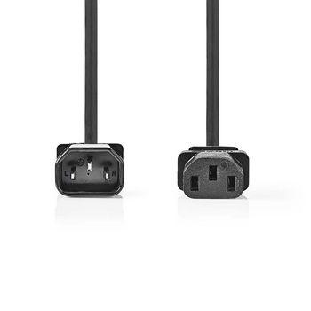 Power Cable | IEC-320-C14 - IEC-320-C13 | 2.0 m | Black