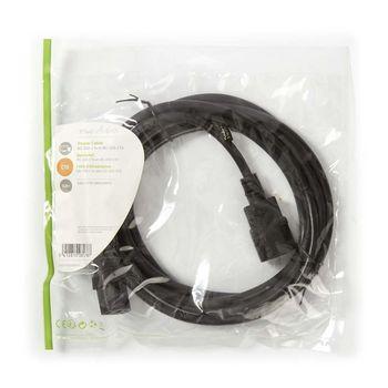 Power Cable | IEC-320-C14 - IEC-320-C13 | 3.0 m | Black