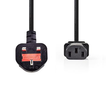 Power Cable | Type G Plug (UK) - IEC-320-C13 | 2.0 m | Black