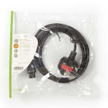 Power Cable | Type G Plug (UK) - IEC-320-C5 | 2.0 m | Black