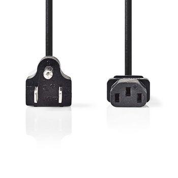 Power Cable | Type B Plug (USA) - IEC-320-C13 | 2.0 m | Black