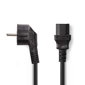 Tápkábel   Shucko Dugasz - IEC-320-C13   1.8 mm   Fekete