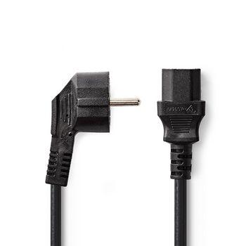 Power Cable | Schuko Male | IEC-320-C13 | 5.0 m | Black