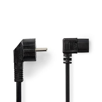 Power Cable | Schuko Male | IEC-320-C13 | 2.0 m | Black