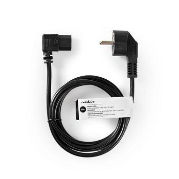 Power Cable | Schuko Male | IEC-320-C13 | 2.0 m | Black