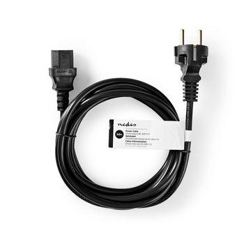 Power Cable | Schuko Male | IEC-320-C13 | 3.0 m | Black