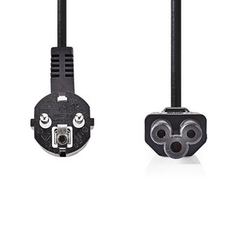 Power Cable | Schuko Male | IEC-320-C5 | 2.0 m | Black