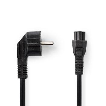 Strömkabel | Shuko-hankontakt | IEC-320-C5 | 2.0 m | Svart