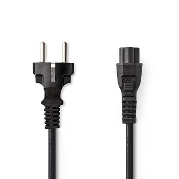 Power Cable | Schuko Male | IEC-320-C5 | 2.0 m | Black