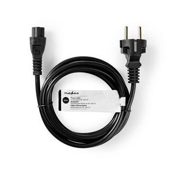 Câble d'Alimentation   Schuko Mâle   CEI-320-C5   3,0 m   Noir