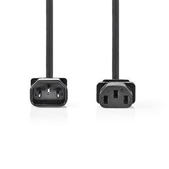 Power Cable | IEC-320-C13 | IEC-320-C14 | 2.0 m | Black