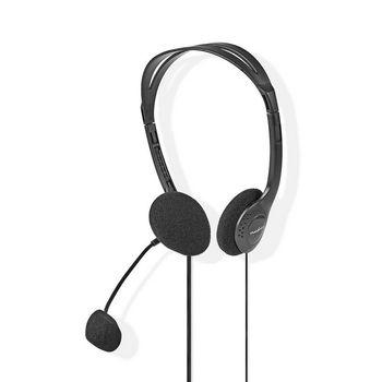 PC Headset | On-Ear | 2x 3.5 mm Connectors | 2.0 m | Black