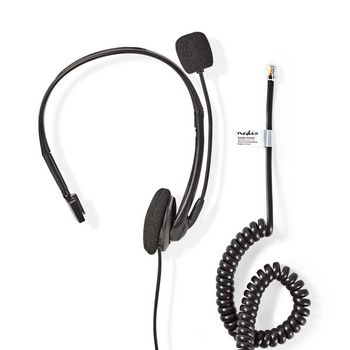 Telephone Headset | On-Ear | RJ9 Connector | 2.2 m | Black