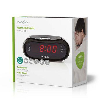 "Digital Alarm Clock Radio | 0.6"" LED | FM | 20 Presets | Snooze"