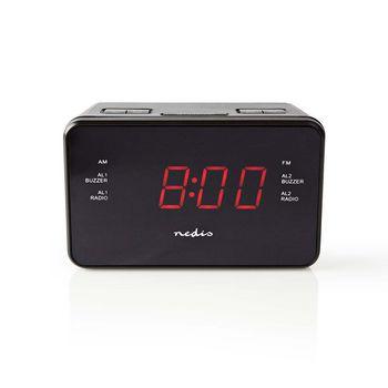 "Digital Alarm Clock Radio | 0.9"" LED | FM | 20 Presets | Snooze"
