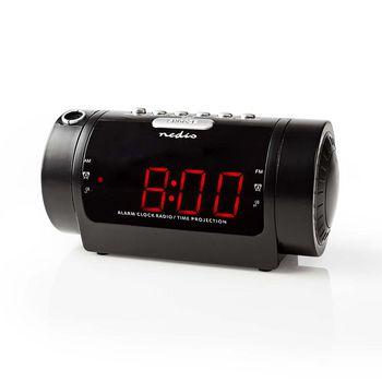 "Digital Alarm Projection Clock Radio | 0.9"" LED | FM | Dual Alarm | Snooze"