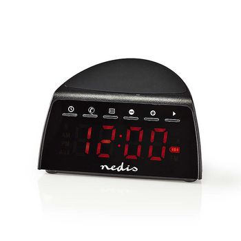 Digital Alarm Clock Radio | Wireless Phone Charging | FM | Bluetooth | Stereo
