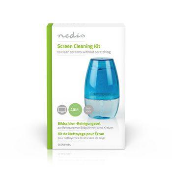 Kit de Limpieza para Pantallas | Televisor | Smartphone | Tableta | 40 ml | Azul