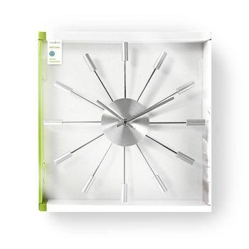 Circular Wall Clock | 34 cm Diameter | Silver