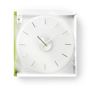 Rund väggklocka | 30 cm diameter | Elegant | Glas