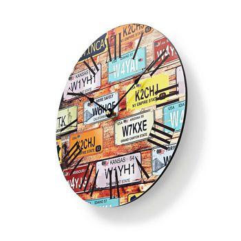 Circular Wall Clock | 30 cm Diameter | Travel-Theme
