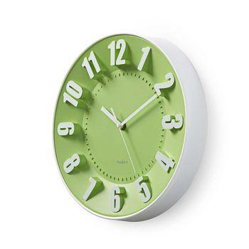 Rund väggklocka | 30 cm diameter | Grön