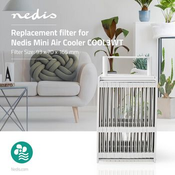 Replacement Filter for Mini Air Cooler COOL3WT