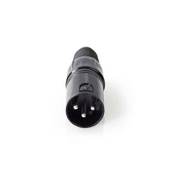 XLR Connector   XLR 3-pin Male   Black