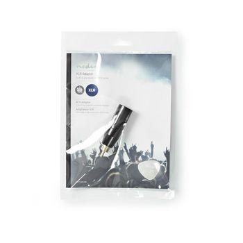Adaptador XLR | XLR de 3 Pines Macho - RCA Macho | 1 Pieza | Metal