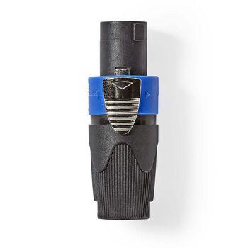 Luidsprekerconnector | Luidspreker 4-pins female | Zwart