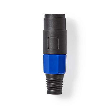 Luidsprekerconnector | Luidspreker 4-pins male | Zwart