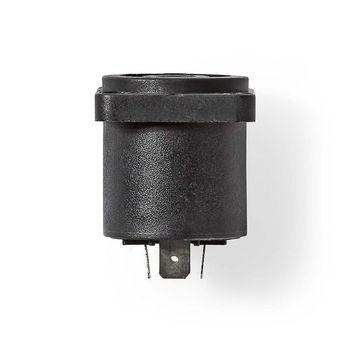 Luidspreker-Chassisbevestiging | Luidspreker 4-pins female | Zwart