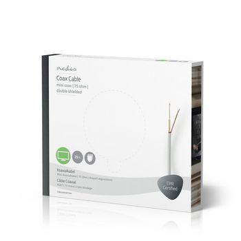 Coax Cable | Mini Coax | 25.0 m | Gift Box | White
