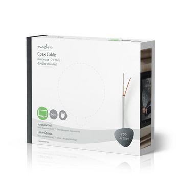 Coax Cable | Mini Coax | 50.0 m | Gift Box | White