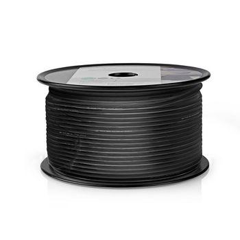 Coax Cable | RG174 | 100 m | Reel | Black