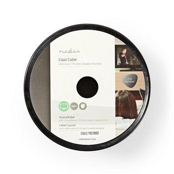 Coax Cable | Mini Coax | 100 m | Reel | White
