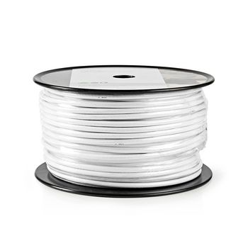 Coax Cable | RG6T | 100 m | Reel | White