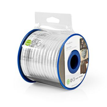 Coax Cable | RG6T | 10.0 m | Mini Reel | White