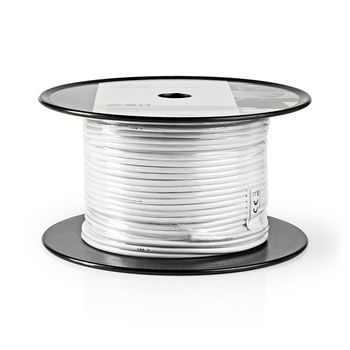Coax Cable | RG58CU | 100 m | Reel | White