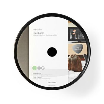 Coax Cable | RG59U | 100 m | Reel | White